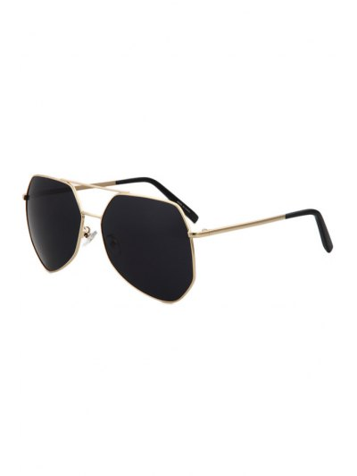 Golden Alloy Frame Sunglasses - Black