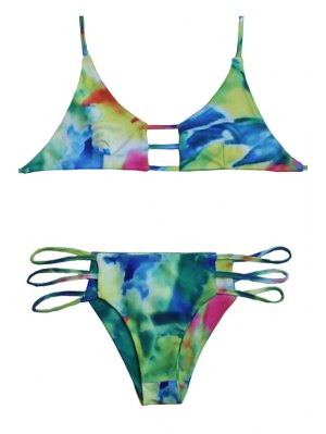 Ensemble de bikini à cravate Tie Dye