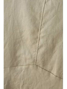 Pure Color Short Sleeve Linen Dress