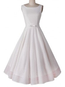 Polka Dot Ball Gown Sleeveless Dress