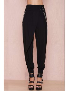 Black High Waisted Narrow Feet Pants