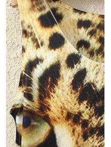 Leopard Print Sleeveless Tank Top - WHITE ONE SIZE(FIT SIZE XS TO M)