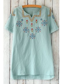 Short Sleeve Embroidered Loose T-Shirt