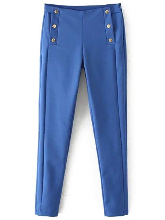 shops Blue Narrow Feet Pants - BLUE S
