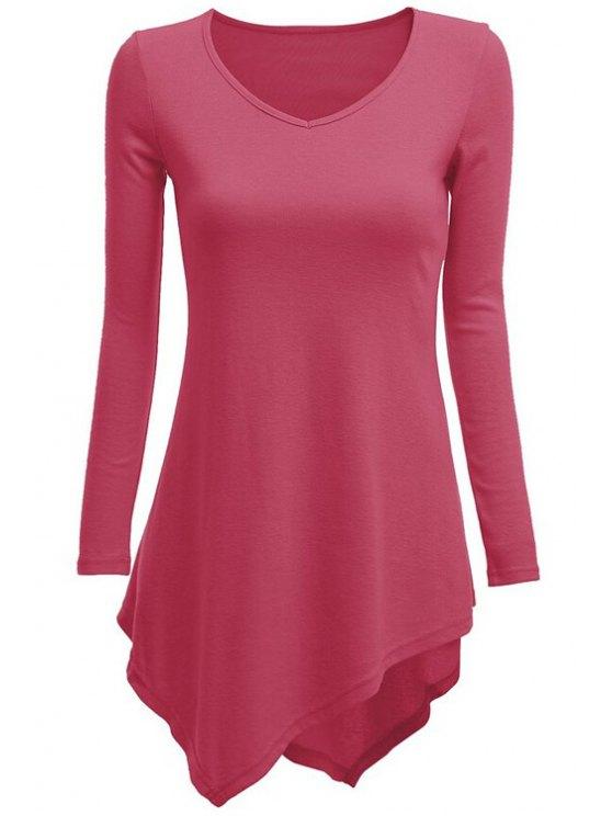 online Long Sleeve Dovetail T-Shirt - ROSE M