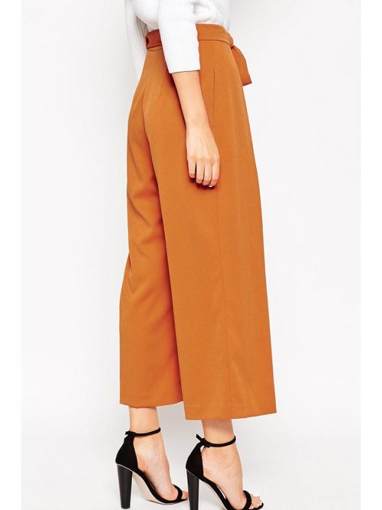 Soft Culotte With Tie Waist -   Mobile