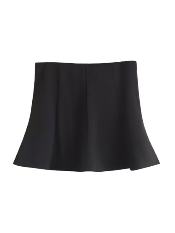 sale A-Line Black Knitted Mini Skirt - BLACK S