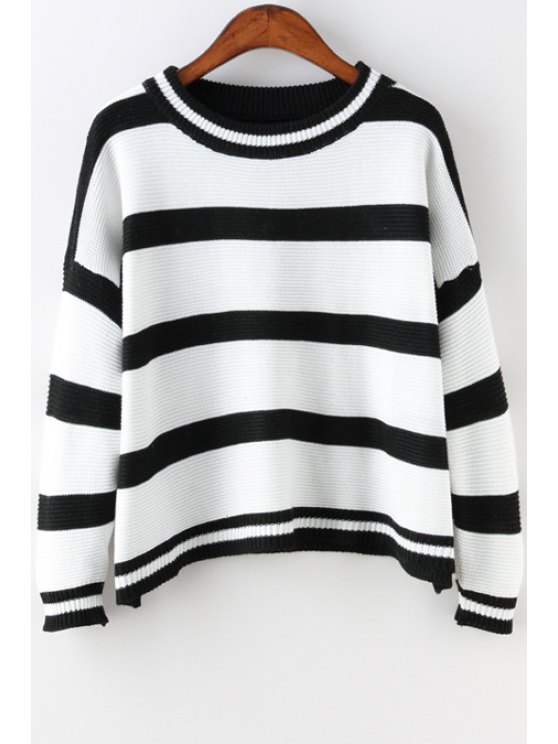shop Black and White Long Sleeve Jumper - AS THE PICTURE ONE SIZE(FIT SIZE XS TO M)