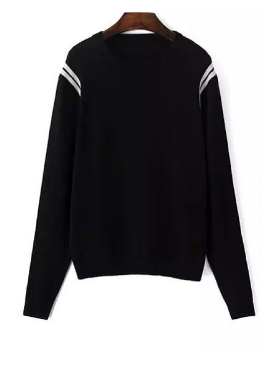 shop Long Sleeve Loose-Fitting Sweater - BLACK S