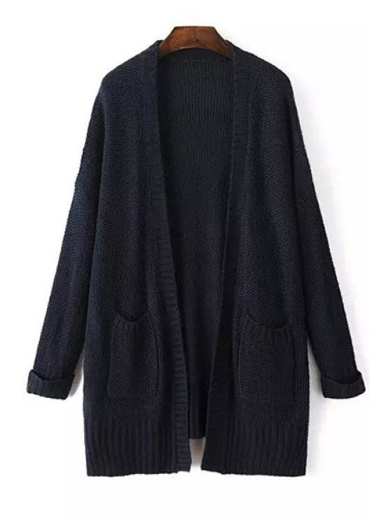 outfits Pure Color Long Sleeves Pockets Cardigan - CADETBLUE ONE SIZE(FIT SIZE XS TO M)