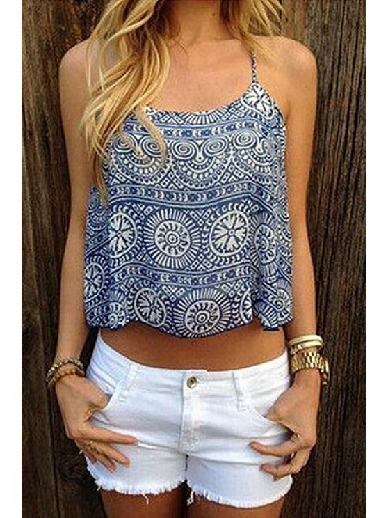 shops Tribal Print Cami Tank Top - AS THE PICTURE S