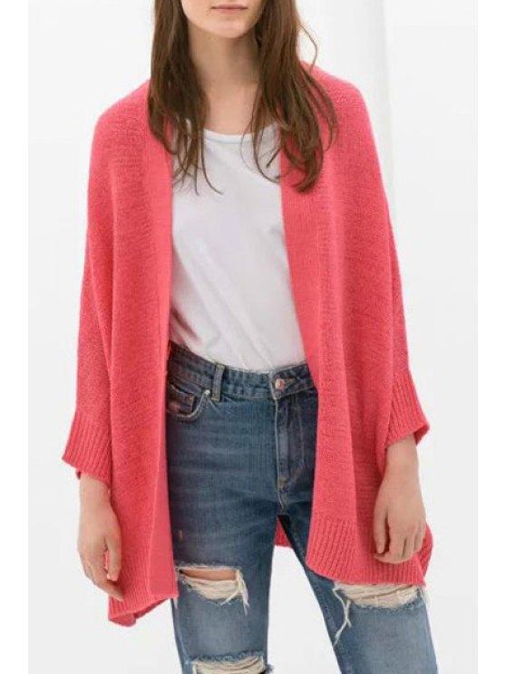 new Pure Color Long Sleeve Loose Cardigan - JACINTH M