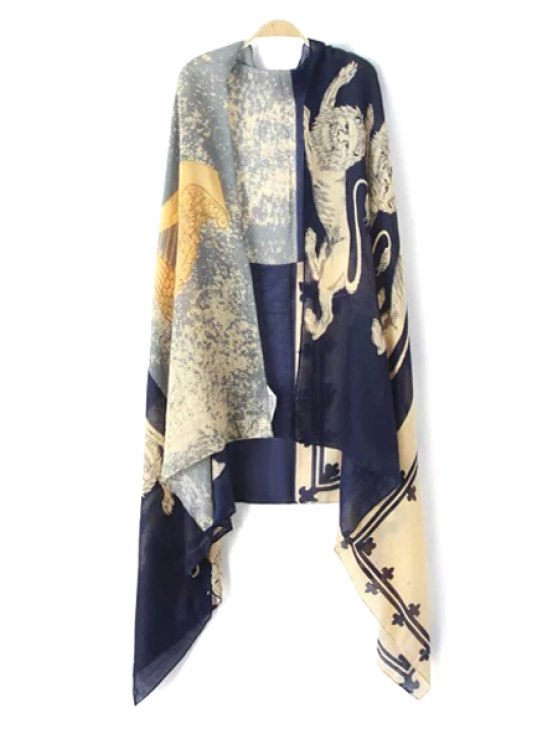women's Lion Print Pashmina - AS THE PICTURE
