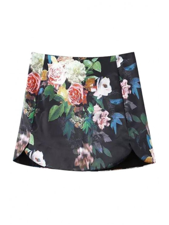 outfits Colorful Floral Printed Skirt - AS THE PICTURE S