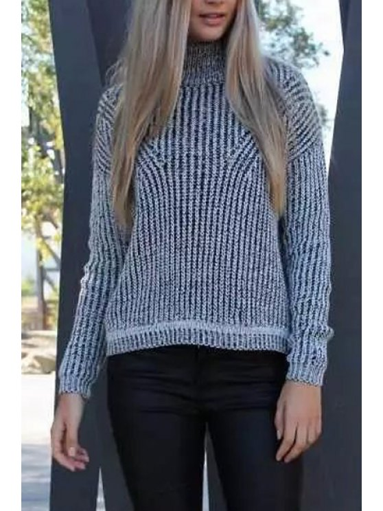 shop Gray Turtle Neck Long Sleeve Jumper - GRAY ONE SIZE(FIT SIZE XS TO M)