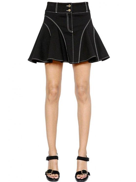buy Flouncing Black High Waisted Flare Skirt - BLACK XS