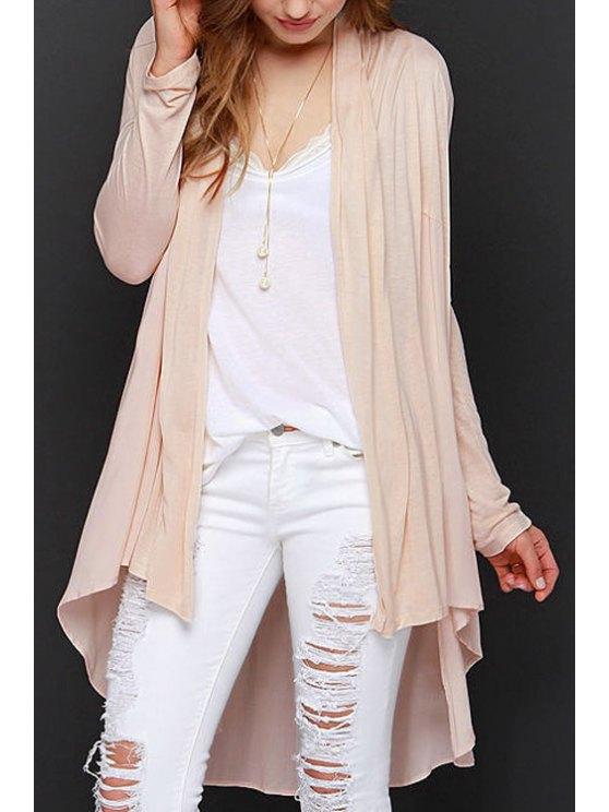 buy Light Pink Long Sleeve Cardigan - LIGHT PINK XS