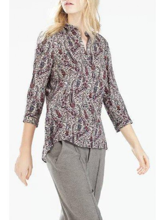 hot Single-Breasted Paisley Print Shirt - COLORMIX S