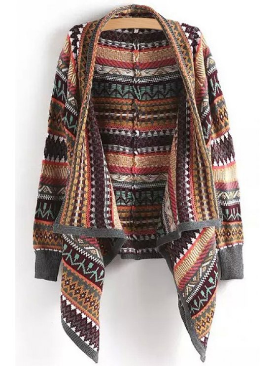 outfits Tribal Pattern Waterfall Cardigan - COLORMIX ONE SIZE(FIT SIZE XS TO M)
