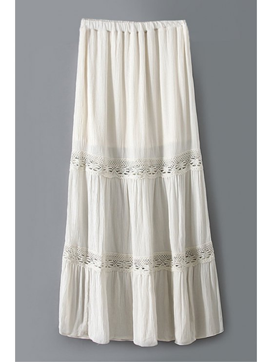 fashion Off-White Tiered Long Skirt - OFF-WHITE XS