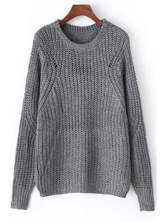 outfit Openwork Solid Color Jumper - GRAY ONE SIZE(FIT SIZE XS TO M)