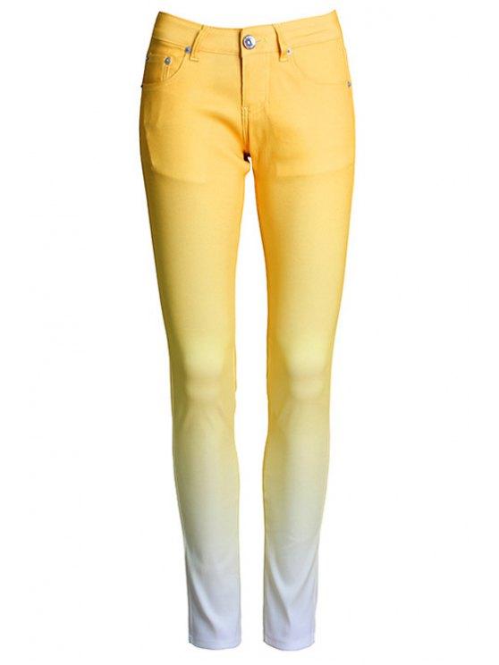 Pantalones Ombre Color Narrow Feet - Amarillo L