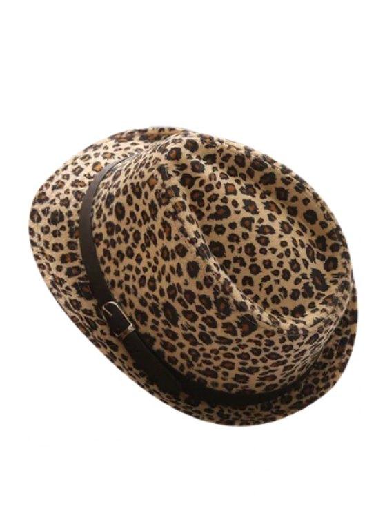 Belt Leopard Jazz Hat - Café Luz