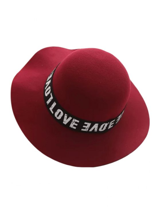 lady Capital Letters Strappy Jazz Hat - CLARET