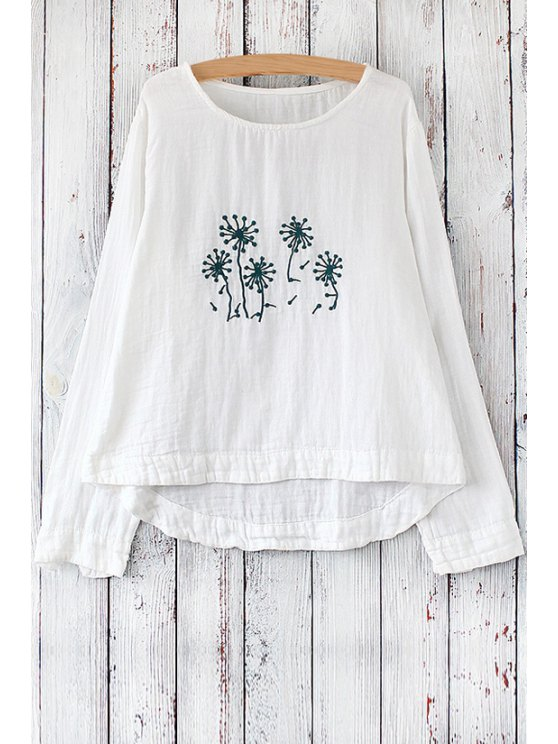 shops Dandelion Embroidered Blouse - GREEN ONE SIZE(FIT SIZE XS TO M)