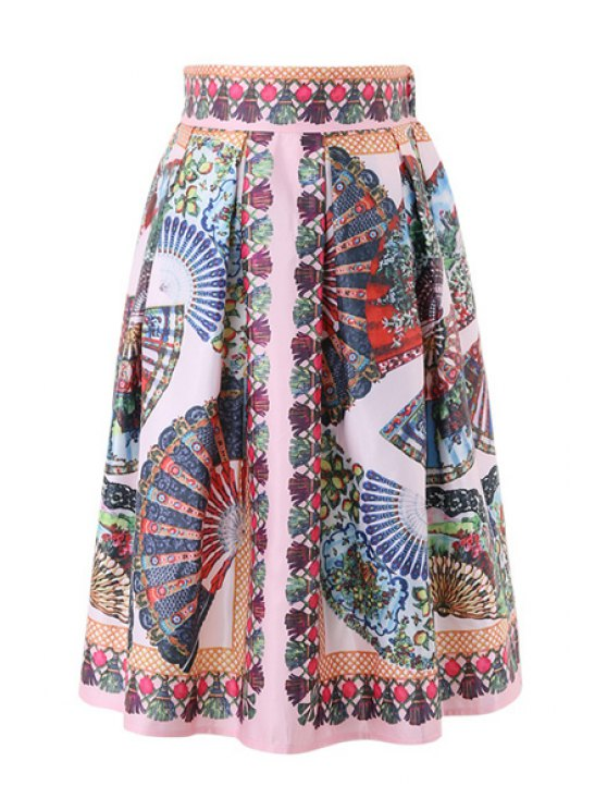 outfits High-Waisted Folding Fan Skirt - COLORMIX ONE SIZE(FIT SIZE XS TO M)