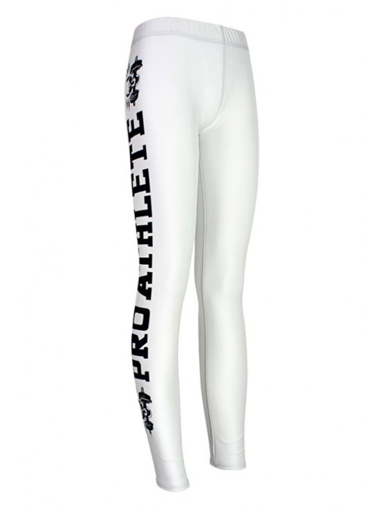 ladies Butt Lifter Letter Skull Skinny Leggings - WHITE ONE SIZE(FIT SIZE XS TO M)