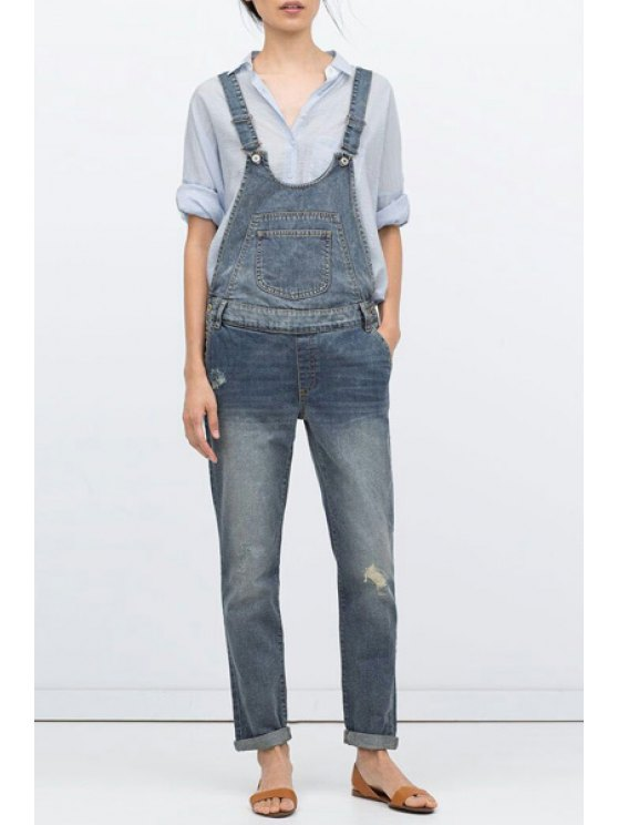 best Ripped Nine Minutes of Women's Overall - BLUE S