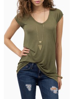 Short Sleeve Army Green T-Shirt - Army Green 2xl