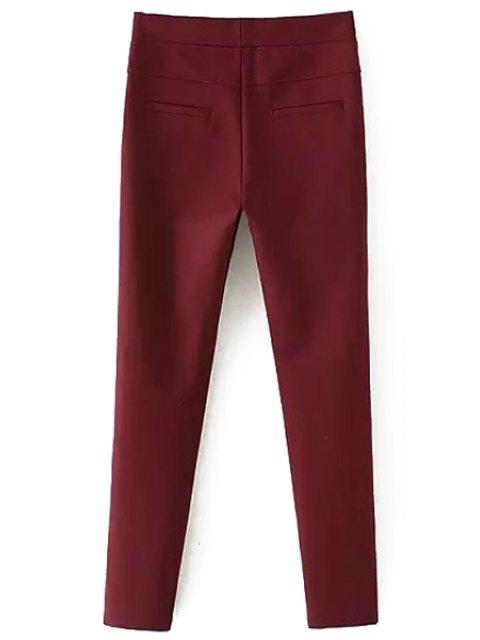 Pantalon rouge à pieds étroits - Rouge XL Mobile