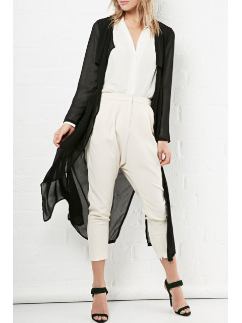 outfits Glamorous Sheer Chiffon Trench -   Mobile