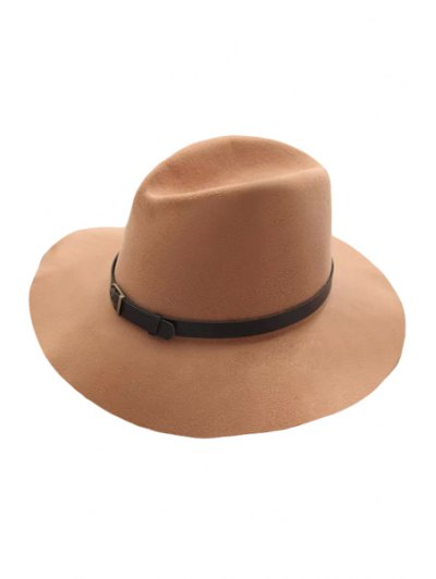 Belt Felt Vintage Hat - Light Khaki