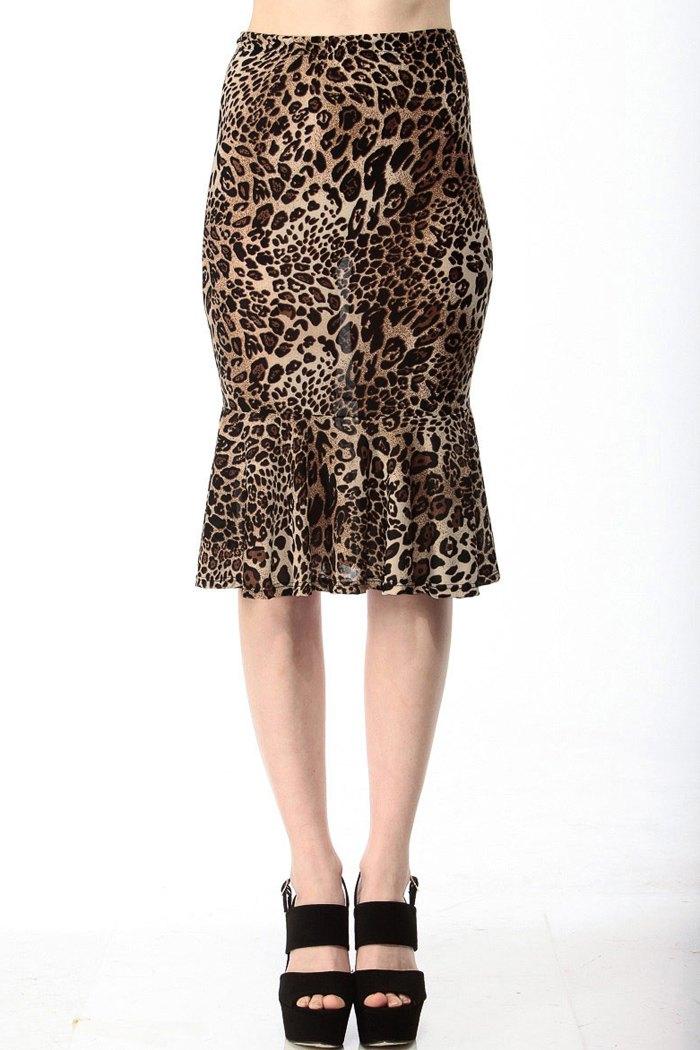leopard print high waisted mermaid skirt leopard skirts