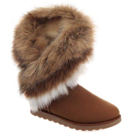 Faux Fur Design Snow Boots For Women 147904817