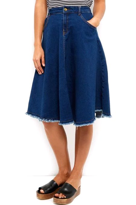 denim high waisted blue skirt blue skirts zaful