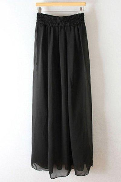pleated high waisted chiffon skirt black skirts zaful