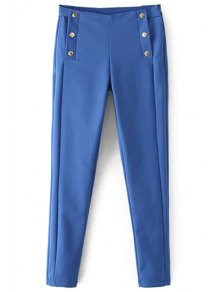 Blue Narrow Feet Pants