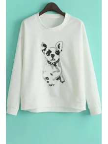 Puppy Pattern Loose Sweatshirt