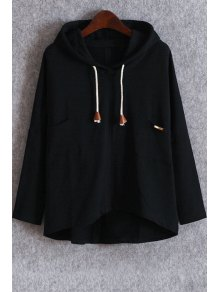 Pockets Slouchy Pullover Hoodie