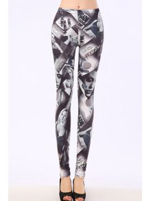 Bodycon Sexy Figure Pattern Leggings