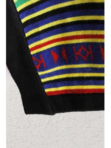 Colorful Pattern Long Sleeve Cardigan