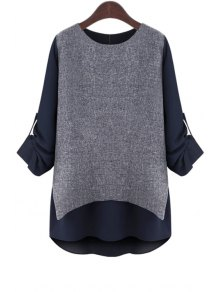 Rolled Sleeve Layered T-Shirt