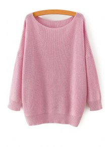 Solid Color Loose-Fitting Jumper