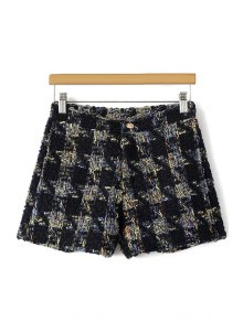 Houndstooth Pattern Fall Shorts
