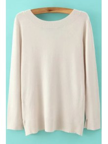 Long Sleeve Low Back Sweater