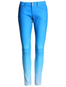Ombre Color Narrow Feet Pants